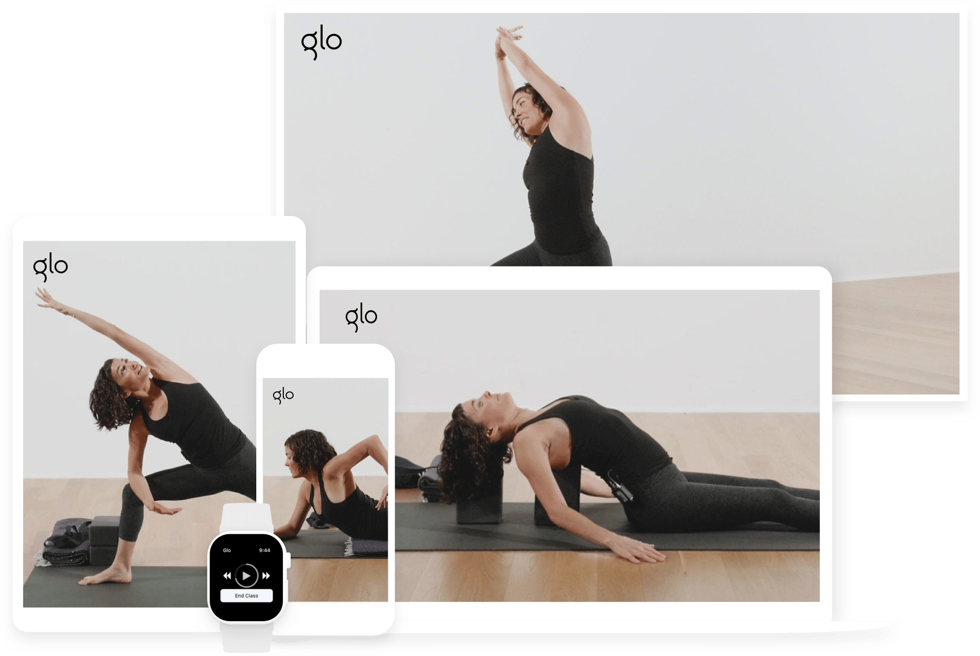 Expert-led yoga, meditation,<br>Pilates, & fitness<br>classes on any<br>device